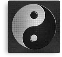 Yin Yang in Carbon Fiber Print Style Canvas Print