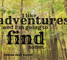 Adventures Louisa May Alcott Sticker