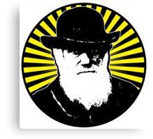 Charles Darwin starburst Canvas Print