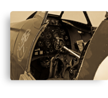 Supermarine Spitfire Cockpit Canvas Print
