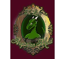 The Lusty Argonian Maid Photographic Print