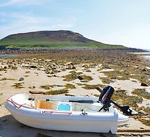 Dinghy On A Beach by Malcolm Snook