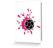 Pink handball splash Greeting Card
