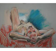 Reclining male figure Photographic Print