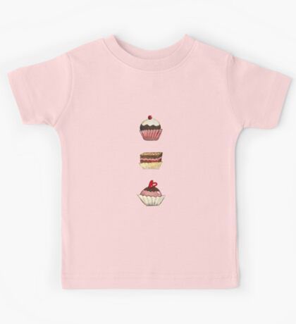 Happy Birthday with a touch of pink Kids Tee