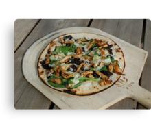 Chicken, Basil, Black Olive Pizza Canvas Print