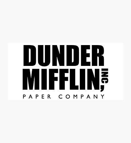 Dunder Mifflin, Inc Paper Company Photographic Print
