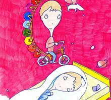 """Pink Dreamer"" print by GO-GOOGOO"