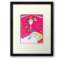 """Pink Dreamer"" print Framed Print"