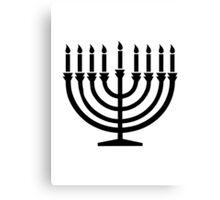 Hanukkah Menorah Canvas Print