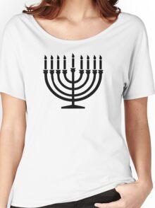 Hanukkah Menorah Women's Relaxed Fit T-Shirt