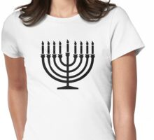 Hanukkah Menorah Womens Fitted T-Shirt