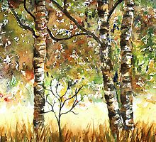 Fall Birches by LinFrye