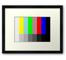 Abstract TV Testing Framed Print