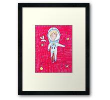 """Pink Dreamer"" print Astronaut  Framed Print"