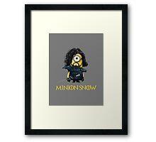 Minion Jon Snow Framed Print