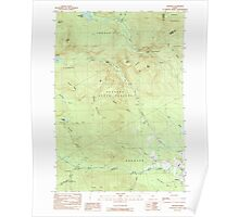 Maine USGS Historical Map Andover 104870 1984 24000 Poster