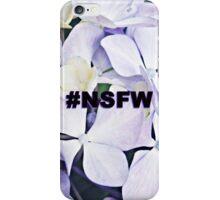 NSFW Tag / Innocent Purple Flowers  iPhone Case/Skin