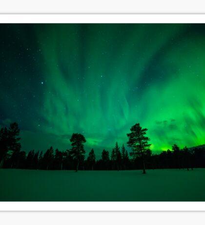 Aurora over Sami Country Sticker