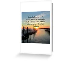 SERENE SUNSET JOHN 3:16 PHOTO DESIGN Greeting Card