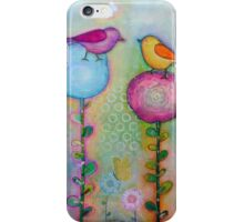Birds in the Garden  iPhone Case/Skin