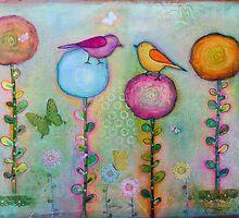 Birds in the Garden  by sunnyklee