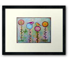 Birds in the Garden  Framed Print