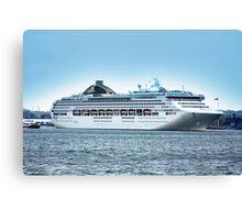 Oceana Leaving Southampton 2008 Canvas Print