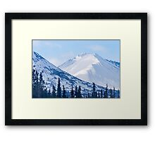 Snow Capped Framed Print
