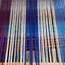 Wires in a weaving-loom by Arie Koene
