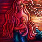 Mermaid Mother and Child by Alice Mason