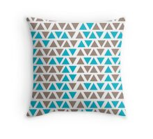 Triangle - Blue & Brown Throw Pillow