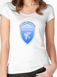 Coat of Arms of Svalbard  Women's Fitted Scoop T-Shirt