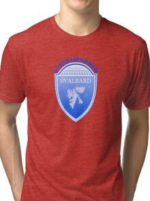 Coat of Arms of Svalbard  Tri-blend T-Shirt