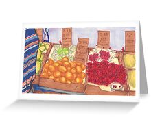 chinatown fruit stand 2 Greeting Card