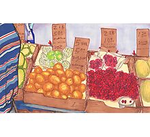chinatown fruit stand 2 Photographic Print