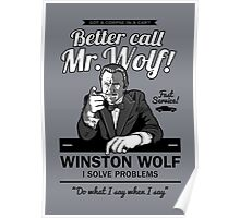 Better call Mr. Wolf Poster