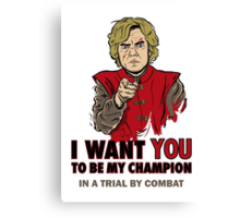 Uncle Tyrion (Red) Canvas Print