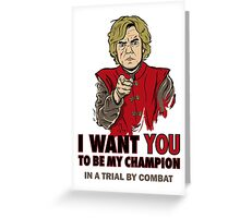 Uncle Tyrion (Red) Greeting Card