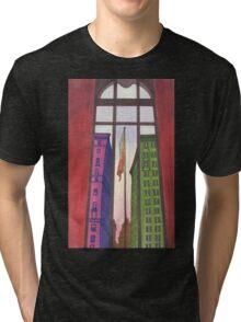 view from inside the metropolitan museum Tri-blend T-Shirt