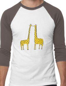 Giraffe Love Men's Baseball ¾ T-Shirt