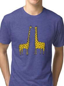 Giraffe Love Tri-blend T-Shirt