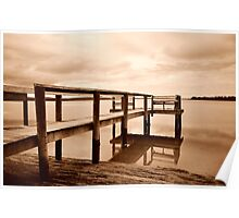 Old Jetty 2.........Sunset Poster