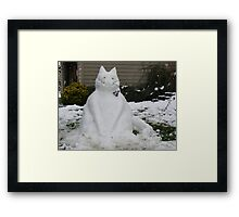 A SNOW CAT FOR YOU  Framed Print