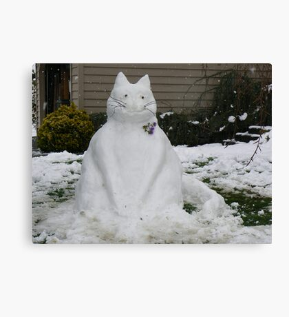 A SNOW CAT FOR YOU  Canvas Print