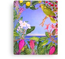Yellow-napped Amazon Canvas Print