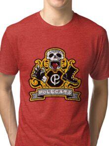 Polecats Patch (sticker) Tri-blend T-Shirt