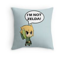 I'm Not Zelda Throw Pillow