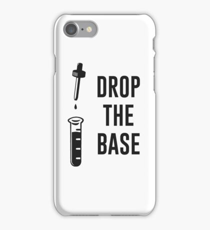 Drop the Bass Chemistry Base iPhone Case/Skin