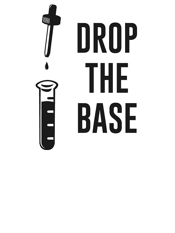 u0026quot drop the bass chemistry base u0026quot  stickers by theshirtyurt